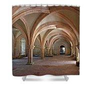 Fontenay Abbey Cross Vault Shower Curtain