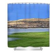 Fontenelle Reservoir Summer Thunderstorm  Shower Curtain