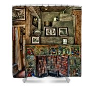 Fonthill Castle Bedroom Fireplace Shower Curtain
