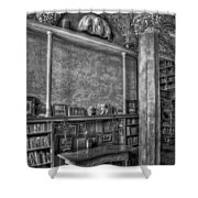 Fonthill Castle Library Shower Curtain