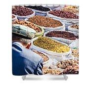 Food At Local Bazaar - Kashgar - China Shower Curtain