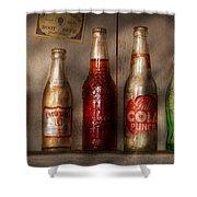 Food - Beverage - Favorite Soda Shower Curtain by Mike Savad