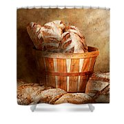 Food - Bread - Your Daily Bread Shower Curtain by Mike Savad