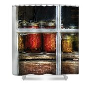 Food - Country Preserves  Shower Curtain by Mike Savad