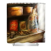 Food - Kitchen Ingredients Shower Curtain