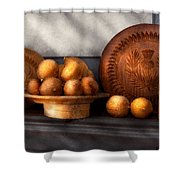 Food - Lemons - Winter Spice  Shower Curtain by Mike Savad