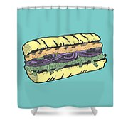 Food Masquerade Shower Curtain