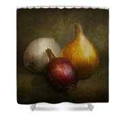 Food - Onions - Onions  Shower Curtain by Mike Savad