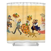 Food Parade II Shower Curtain