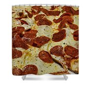Food - Pepperoni Pizza Shower Curtain