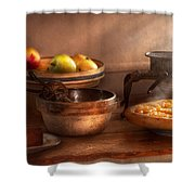 Food - Pie - Mama's Peach Pie Shower Curtain