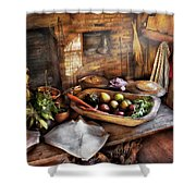 Food - The Start Of A Healthy Meal  Shower Curtain