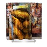 Food - Vegetable - A Jar Of Pickles Shower Curtain