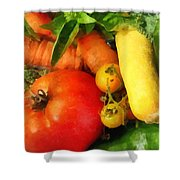 Food - Vegetable Medley Shower Curtain