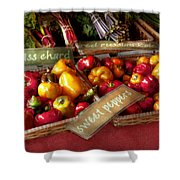 Food - Vegetables - Sweet Peppers For Sale Shower Curtain