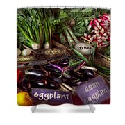Food - Vegetables - Very Fresh Produce  Shower Curtain