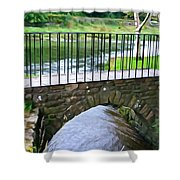 Foot Bridge At Inistioge Shower Curtain