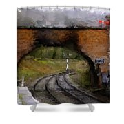 Foot Bridge. Shower Curtain