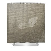 Foot Print In The Sand Shower Curtain