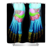 Foot X-ray Shower Curtain