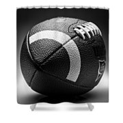 Football Black And White Shower Curtain