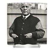 Football Coach Alonzo Stagg Shower Curtain