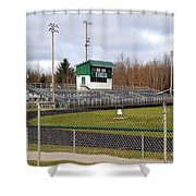Football Field In Clare Michigan Shower Curtain