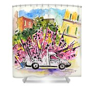 Football Flags From Palermo Shower Curtain
