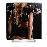 Football Girl Shower Curtain