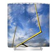 Football Goal Posts Shower Curtain