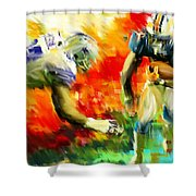 Football IIi Shower Curtain by Lourry Legarde