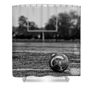 Football In Black And White Shower Curtain