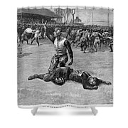 Football Injury, 1891 Shower Curtain