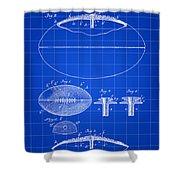 Football Patent 1902 - Blue Shower Curtain