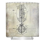 1925 Football Patent Drawing Shower Curtain