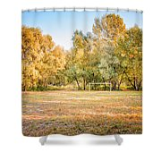 Football Playground In The Forest Shower Curtain