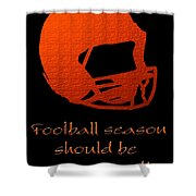 Football Season Should Be Year Round In Orange Shower Curtain by Andee Design