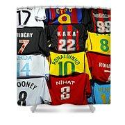 Football Shirts Inside The Grand Bazaar In Istanbul Turkey Shower Curtain
