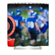 Football Sideline Marker Shower Curtain