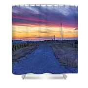 Foothill Sunset Shower Curtain