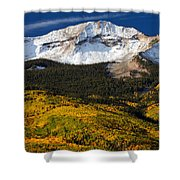 Foothills Of Gold Shower Curtain by Darren  White
