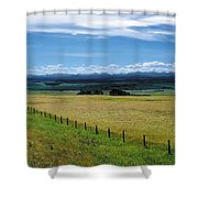 Foothills Of The Rockies Shower Curtain by Terry Reynoldson