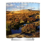 Footpath To Burbage Rocks Shower Curtain