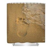 Footprint Shower Curtain