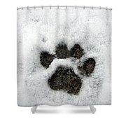 Footprint Series. Cat Shower Curtain
