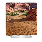 Footprints In The Sand  Canyon Dechelly Shower Curtain