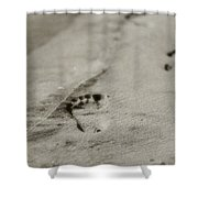 Footprints On The Beach Shower Curtain