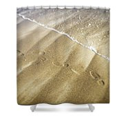 Footsteps Shower Curtain