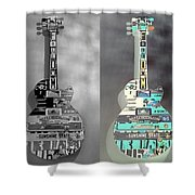 For American Guitars  Shower Curtain