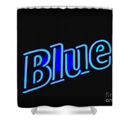 For You Madame Blue Shower Curtain